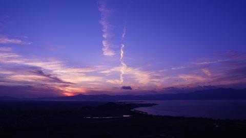 八幡山からの夕景